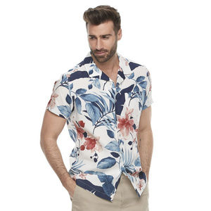 MARC ANTHONY SLIM FIT TROPICAL BUTTON DOWN SHIRT